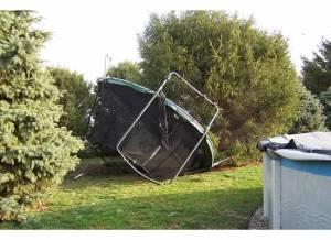 trampoline tornado damage